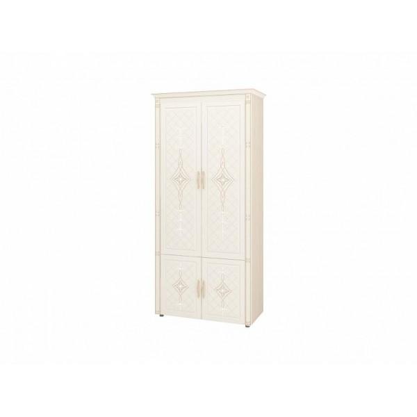Шкаф для одежды с полками и штангой Венеция 32.22