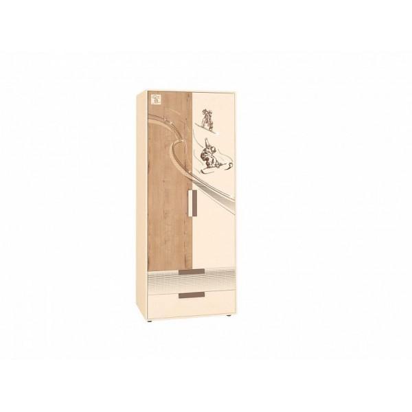 Шкаф для одежды с полками и штангой Фристайл 56.01