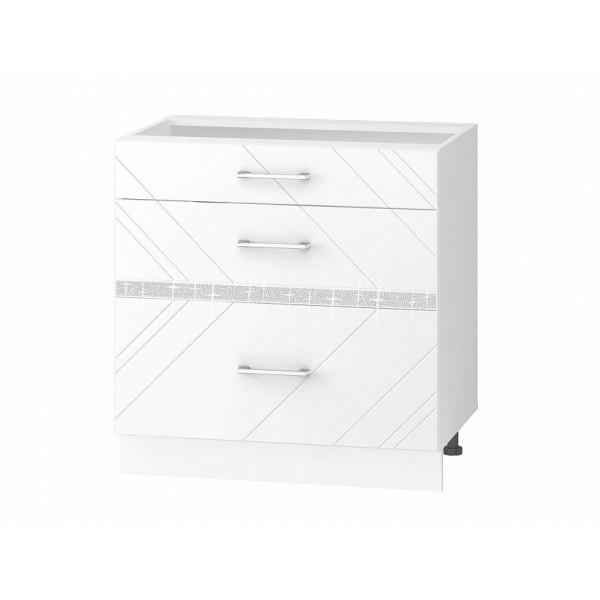 Напольный шкаф (3 ящика с метабоксами) Бьянка 102.67