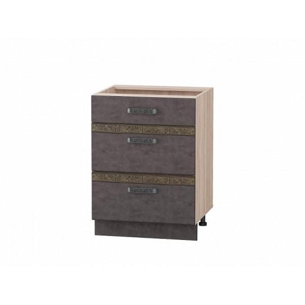 Напольный шкаф (3 ящика с метабоксами) Бруклин 101.66