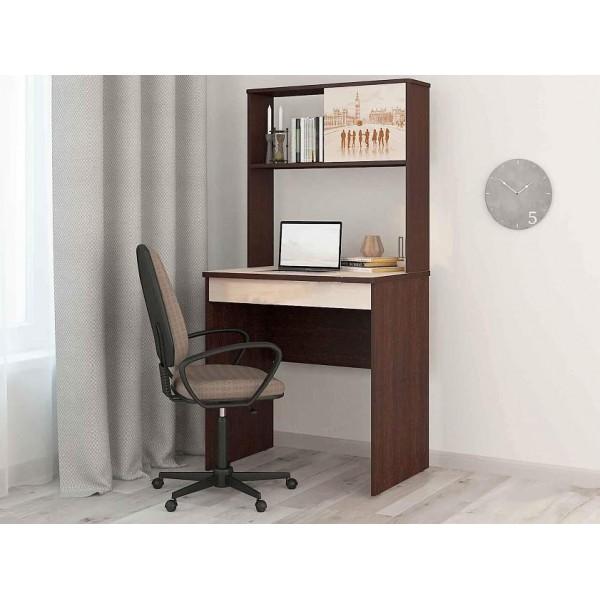 Стол с надстройкой Орион 5.10 Венге-Кобург