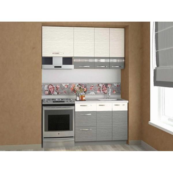 Кухонный гарнитур Графит 13 (ширина 160 см)