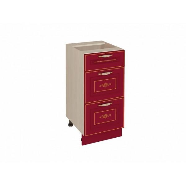Напольный шкаф (3 ящика с доводчиком Titusoft) Виктория 50