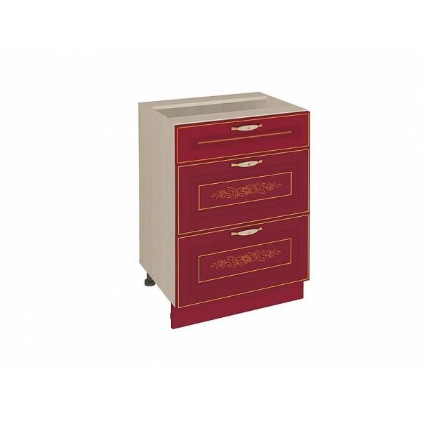 Напольный шкаф (3 ящика с доводчиком Titusoft) Виктория 51
