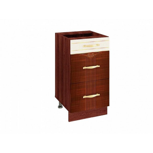 Напольный шкаф (3 ящика с доводчиком Titusoft) Каролина 22