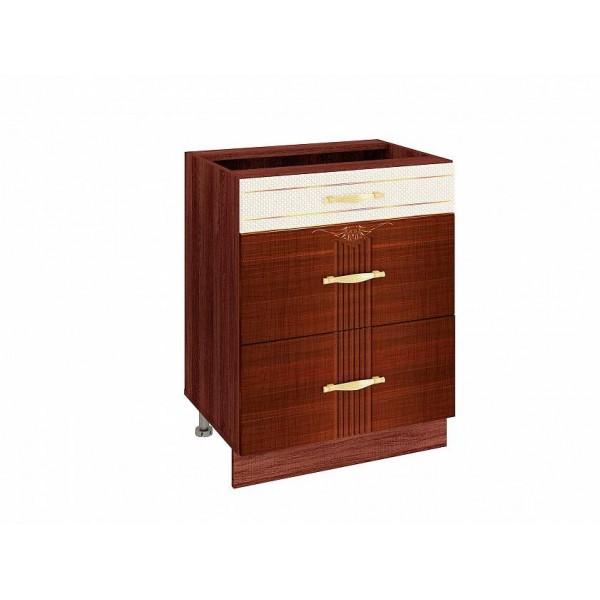 Напольный шкаф (3 ящика с доводчиком Titusoft) Каролина 23