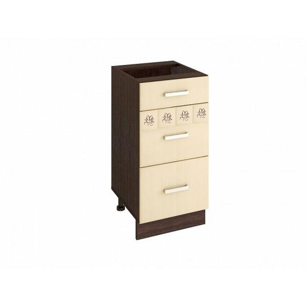 Напольный шкаф (3 ящика с доводчиком Titusoft) Аврора 22