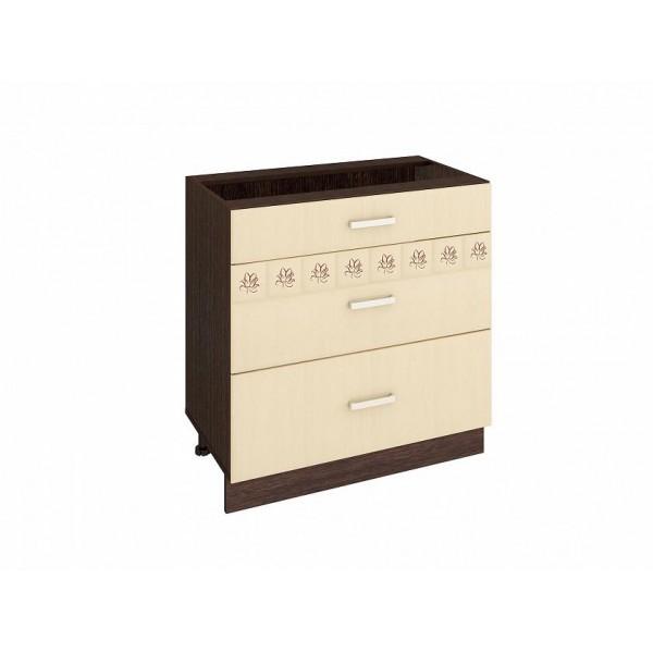 Напольный шкаф (3 ящика с доводчиком Titusoft) Аврора 24