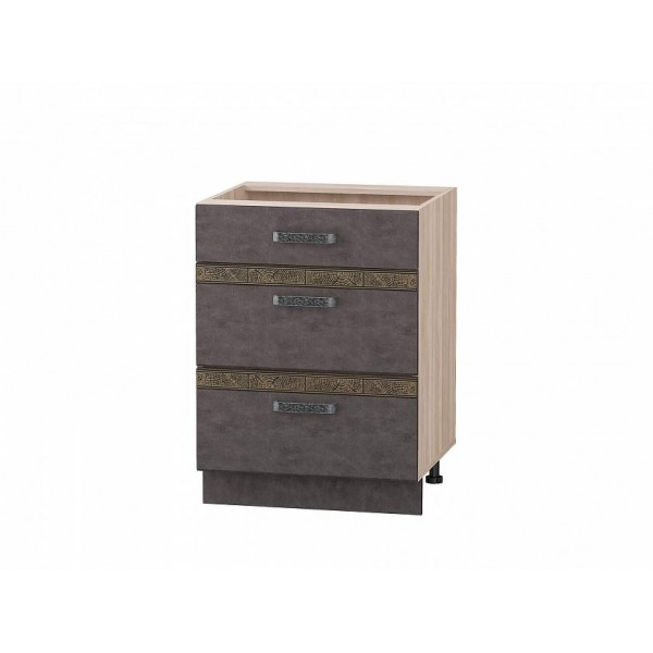 Напольный шкаф (3 ящика с доводчиком Titusoft) Бруклин 61