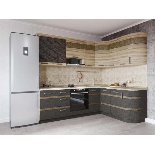 Кухонный гарнитур угловой Бруклин 9 (ширина 240х170 см)