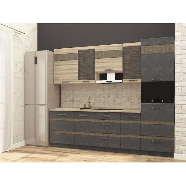 Кухонный гарнитур Бруклин 14 (ширина 260 см)