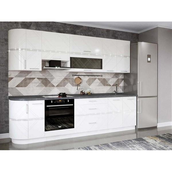 Кухонный гарнитур Бьянка 33 (ширина 282 см)