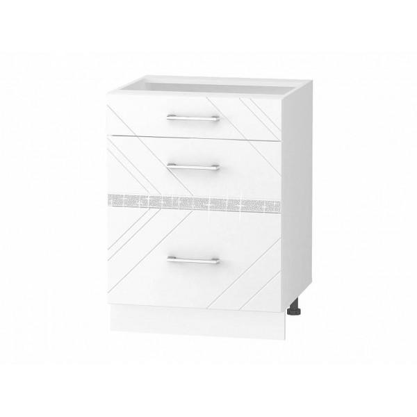 Напольный шкаф (3 ящика с доводчиком Titusoft) Бьянка 61