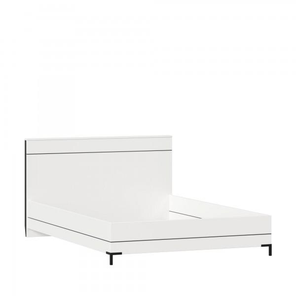 Кровать 1400 без основания Норд (Белый/Чёрный)