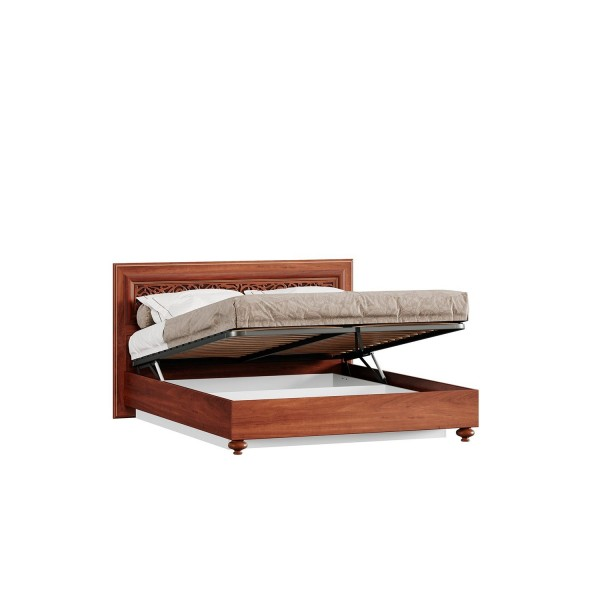 Кровать двуспальная 1600 с подъёмным механизмом Александрия (Ноче Милано/Орех)