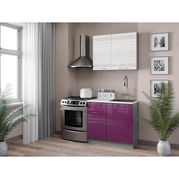 Кухонный гарнитур 1500 Анастасия (Ежевика)