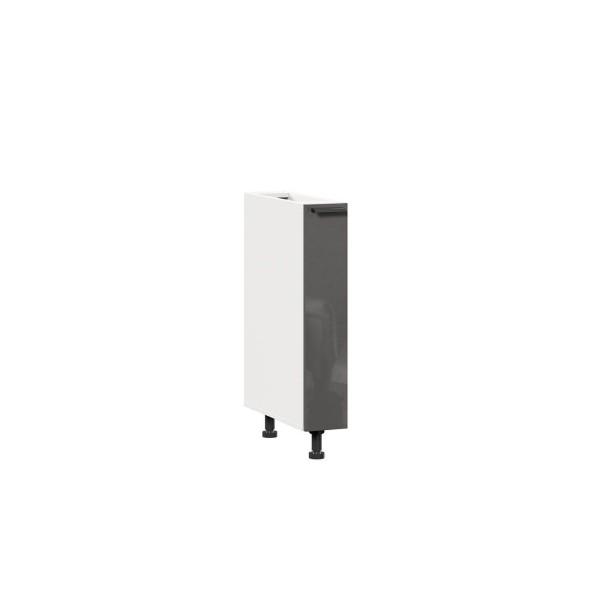 Тумба кухонная 150 бутылочница Герда (Белый/Антрацит глянец)