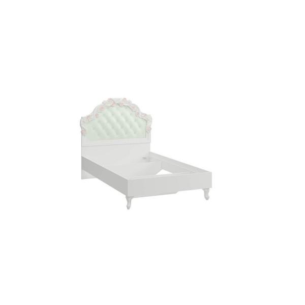Кровать 1200 без основания Луиза (Алебастр/Мятный)