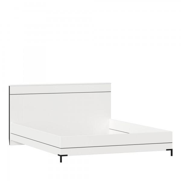 Кровать 1600 без основания Норд (Белый/Чёрный М)