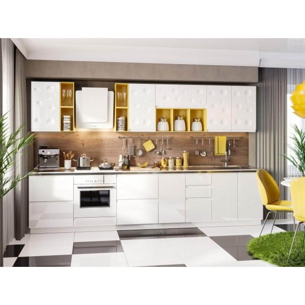 Модульная кухня Айсберри Ламберта (Белый/Белый глянец)