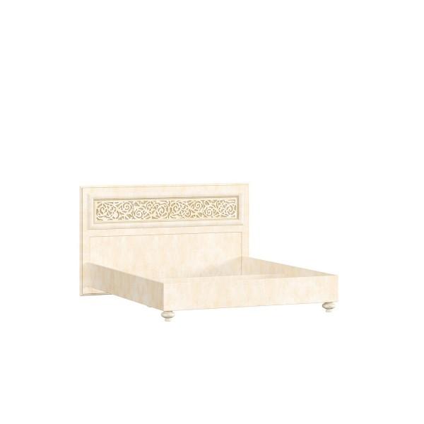 Кровать 1600 (без основания) Александрия (Кожа Ленто/Рустика)