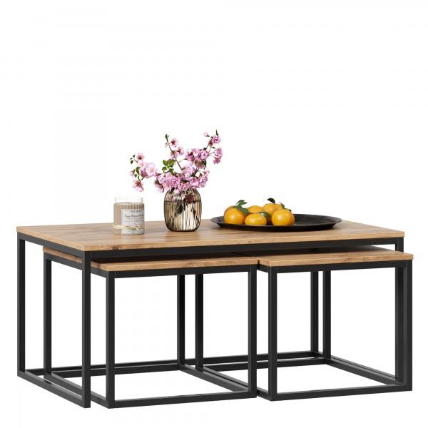 Комплект столов для кофе Лофт (Дуб Вотан)