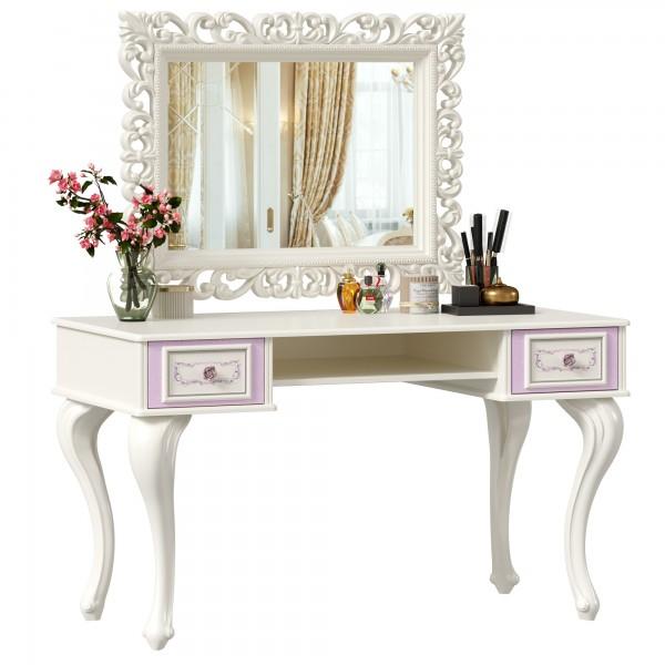 Стол письменный с зеркалом Маркиза (Алебастр)