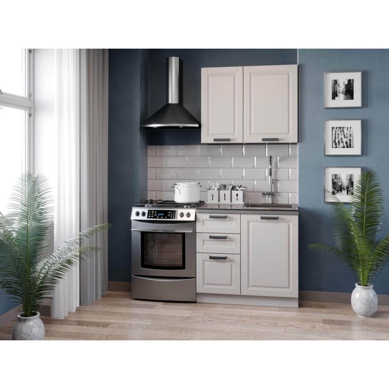 Кухонный гарнитур 1500 Мокка (Чёрный/Кашмир)