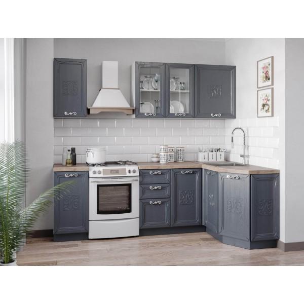 Модульная кухня Бьянка (Белый/Дуб фактурный антрацит)