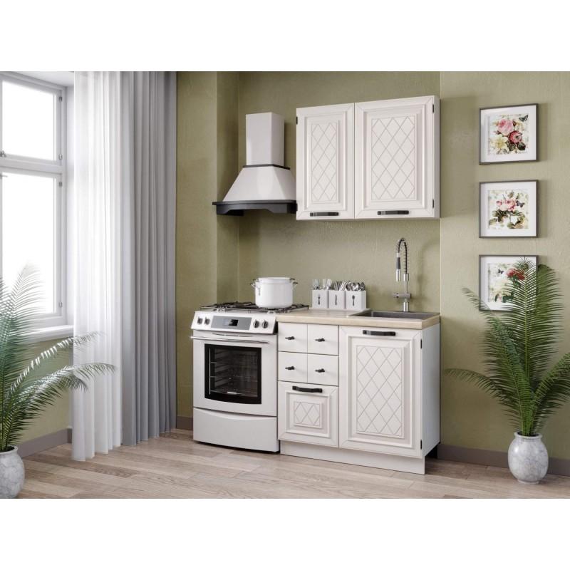 Кухонный гарнитур 1500 Марина (Белый/Алебастр)