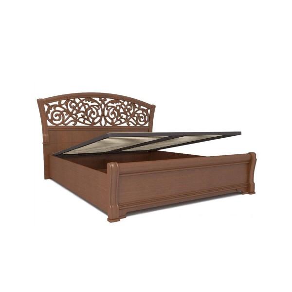 Кровать 1600 ППУ с подъемным механизмом Александрия (Орех)