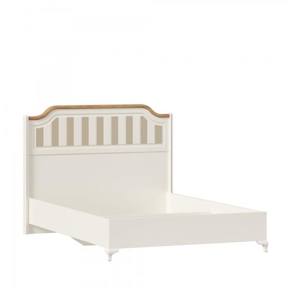Кровать 1400 без основания Вилладжио (Алебастр/Дуб золотой)