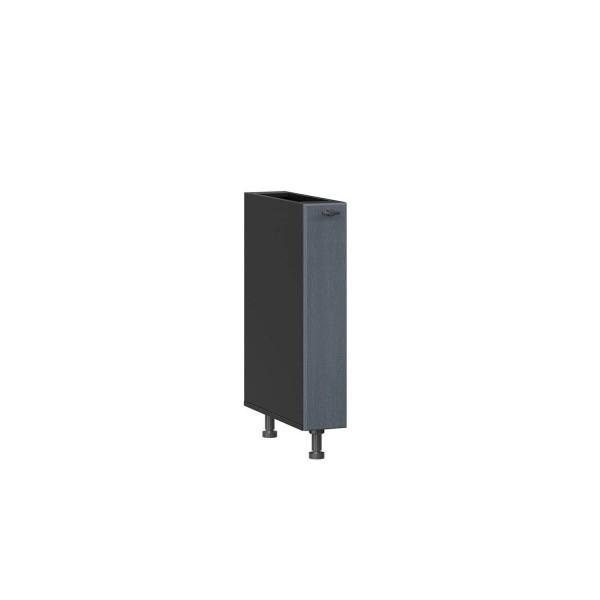 Тумба кухонная 150 бутылочница Марина (Чёрный/Дуб фактурный антрацит)