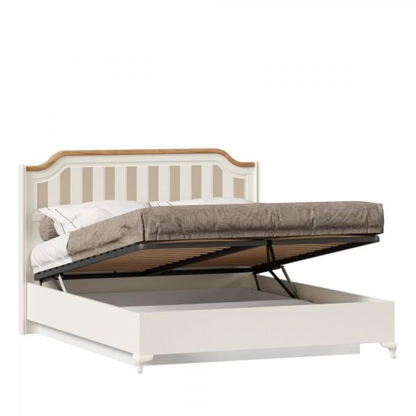 Кровать двуспальная 1600 с подъёмным механизмом Вилладжио (Алебастр/Дуб Золотой)