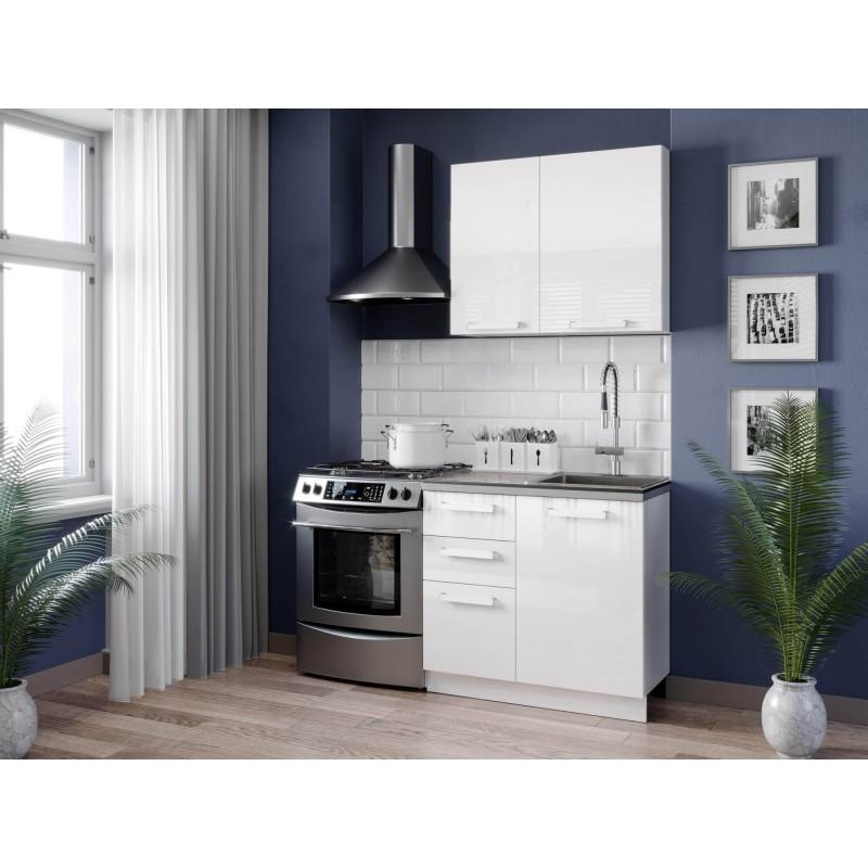 Кухонный гарнитур 1500 Герда (Белый/Белый глянец)