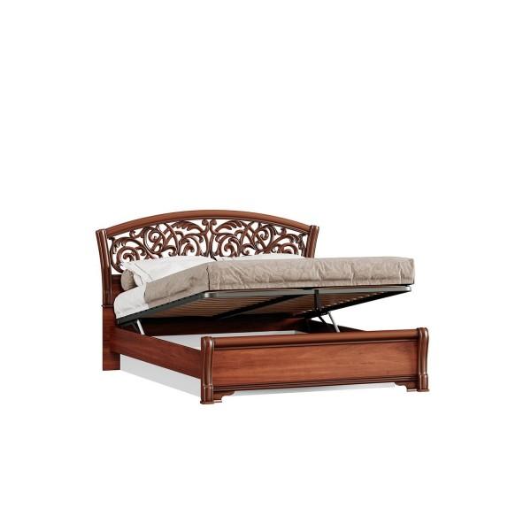 Кровать двуспальная 1600 ППУ с подъёмным механизмом Александрия (Ноче Милано/Орех)