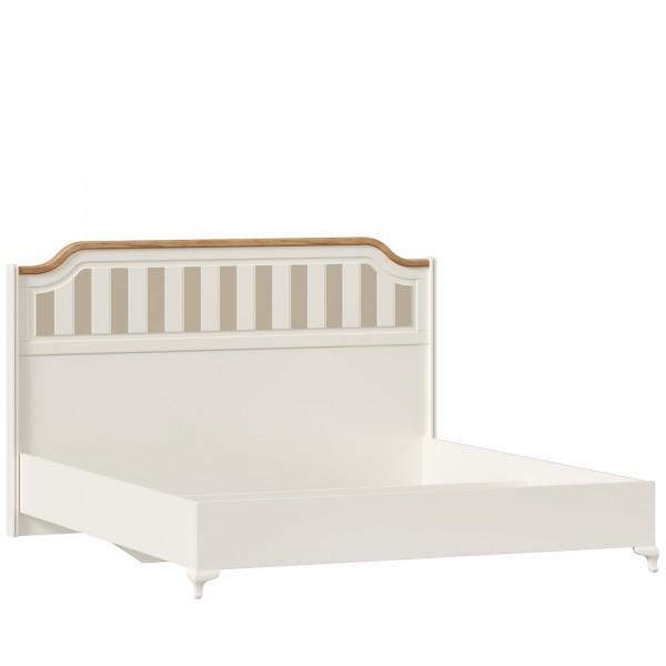 Кровать 1800 без основания Вилладжио (Алебастр/Дуб золотой)