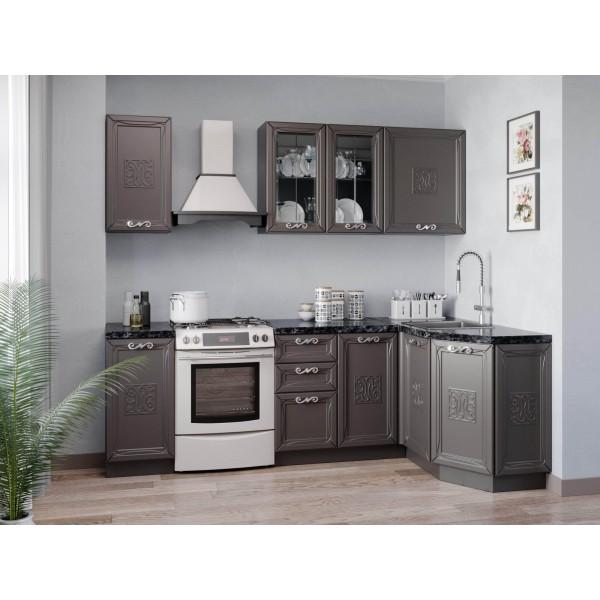 Модульная кухня Бьянка (Чёрный/Сандаун)