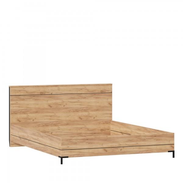 Кровать 1600 без основания Норд (Дуб Золотой/Чёрный М)