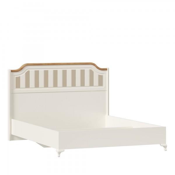 Кровать 1600 без основания Вилладжио (Алебастр/Дуб золотой)