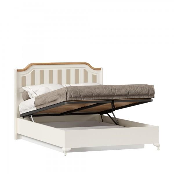 Кровать двуспальная 1400 с подъёмным механизмом Вилладжио (Алебастр/Дуб Золотой)