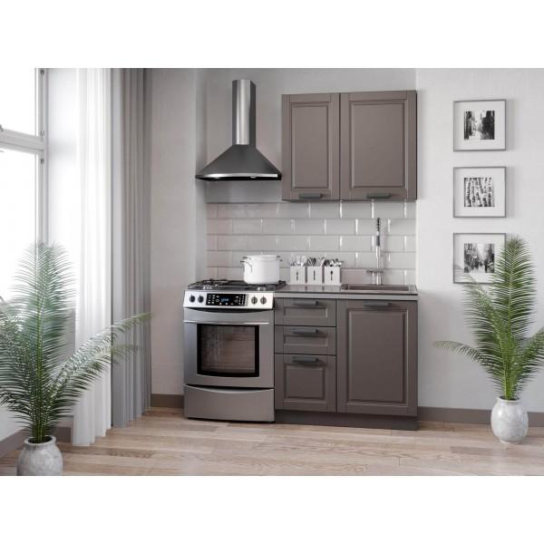 Кухонный гарнитур 1500 Мокка (Чёрный/Сандаун)