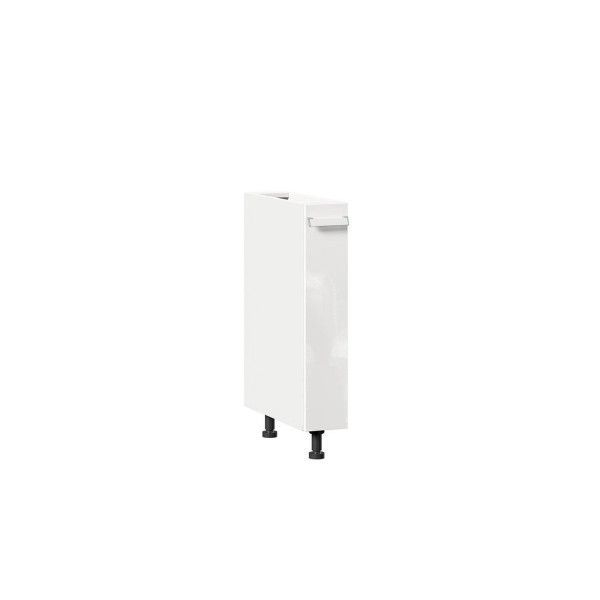Тумба кухонная 150 бутылочница Герда (Белый/Белый глянец)