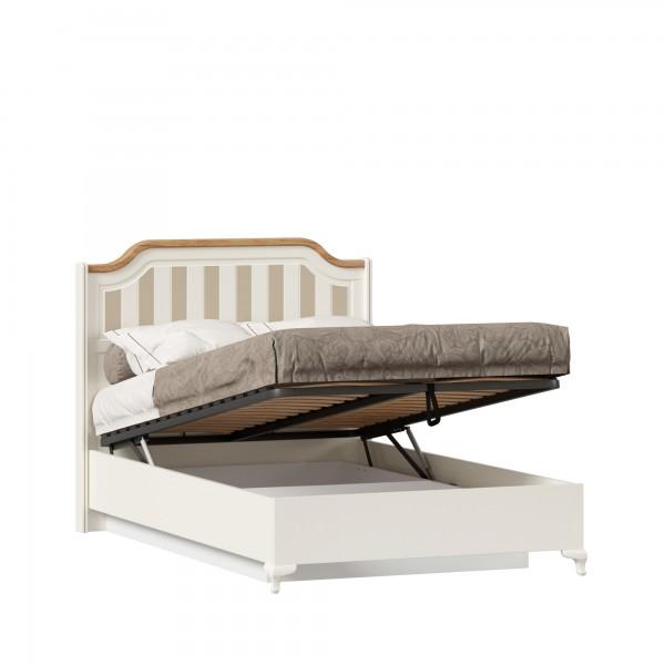 Кровать полутороспальная 1200 с подъёмным механизмом Вилладжио (Алебастр/Дуб Золотой)