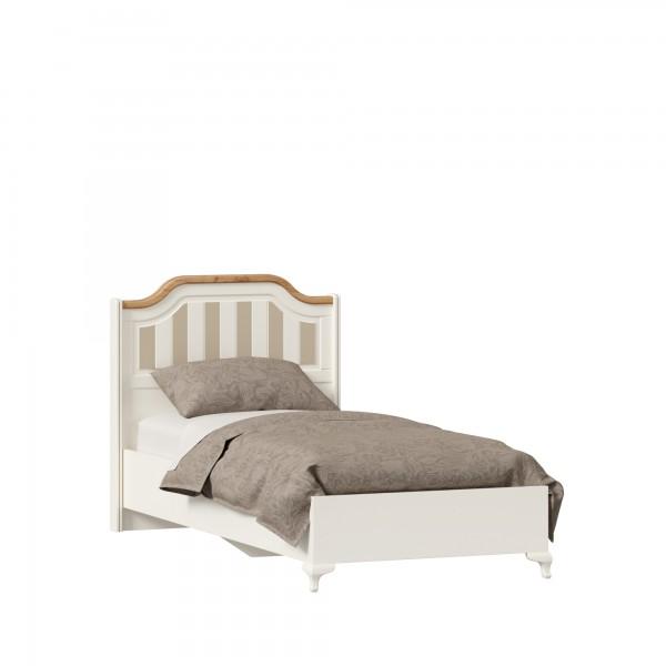 Кровать односпальная 900 Вилладжио (Алебастр/Дуб золотой)