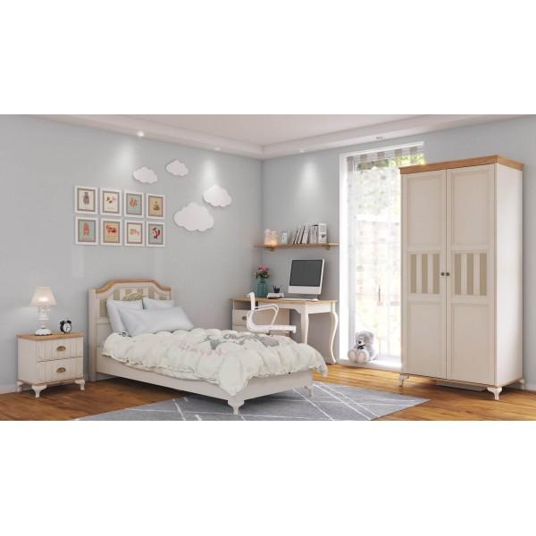 Детская спальня №1 Вилладжио (Алебастр/Дуб золотой)