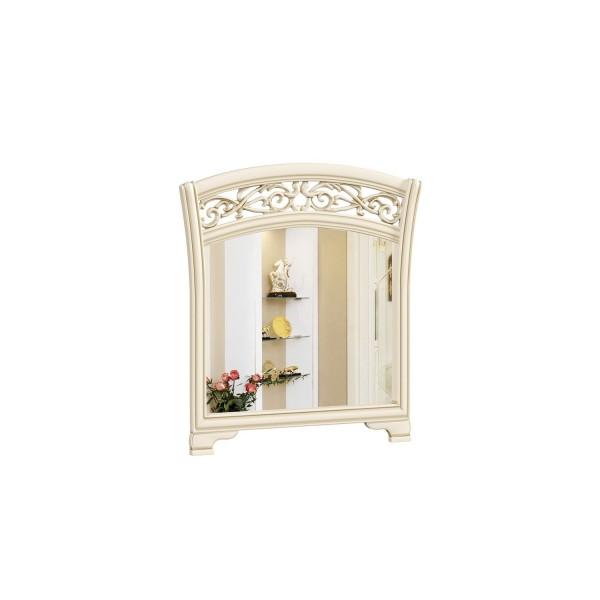 Зеркало настенное в декоративной раме ППУ Александрия (Кожа Ленто/Рустика)