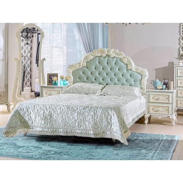 Детская спальня базовый набор Луиза (Алебастр/Мятный)