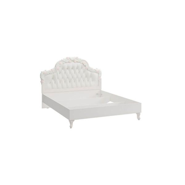 Кровать 1600 с мягким изголовьем без основания Луиза (Алебастр/Шампань)