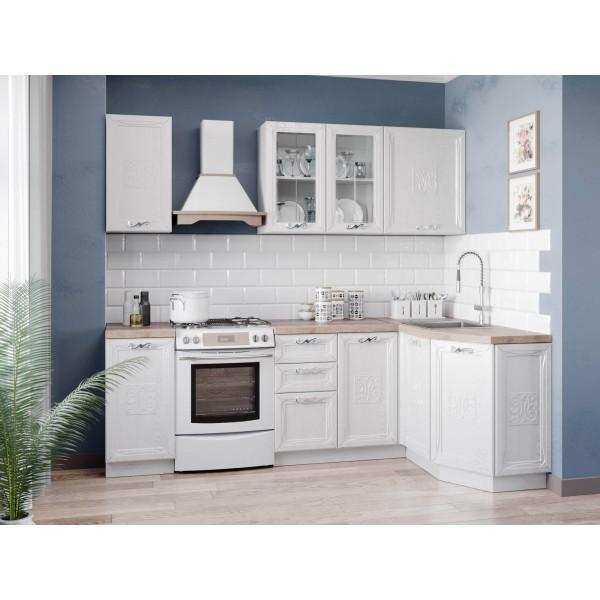 Модульная кухня Бьянка (Белый/Дуб фактурный белый)